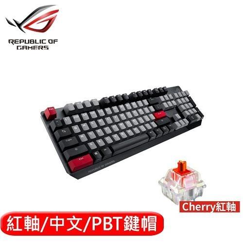 ASUS 華碩 ROG Strix Scope PBT 機械電競鍵盤 紅軸中文【送ASUS ROG BLK滑鼠墊】