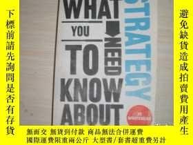 二手書博民逛書店What罕見You Need To Know About Strategy【224】Y10970 Jo Whi