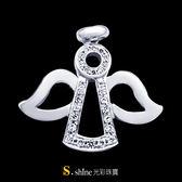 【光彩珠寶】鉑金鑽石項鍊墜飾 天使