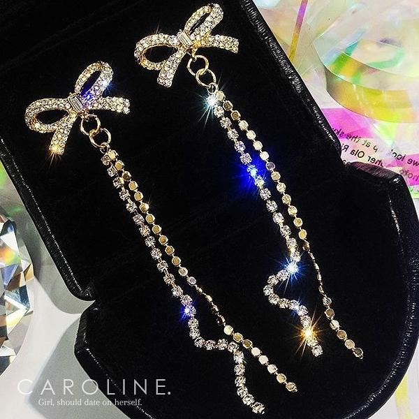 《Caroline》★韓國熱賣造型時尚Bling  Bling 絢麗閃亮動人耳環70272