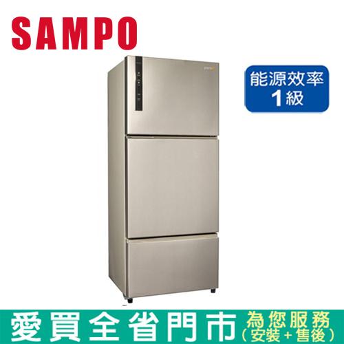 SAMP聲寶580L三門變頻SR-B58DV(Y6)含配送到府+標準安裝 【愛買】