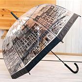 韓國拱形公主可愛長柄傘 透明晴雨傘加大加固超輕太陽傘 NMS  露露日記