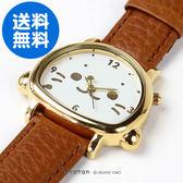 [PET PARADISE] 日本Sirotan 小白太郎 小海豹  滿版小海豹手錶-皮革錶帶-咖啡色