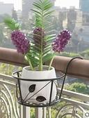 花架 陽臺懸掛式花架鐵藝欄桿護欄窗臺綠蘿吊蘭花盆架掛架置物架