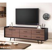 【森可家居】克德爾6尺電視櫃 8JX475-3 長櫃 木紋質感 北歐工業風