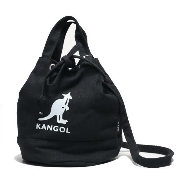 KANGOL 黑色 圓筒袋 帆布 英國 (布魯克林) 6925300720
