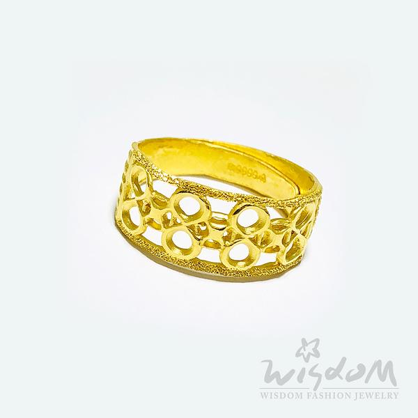 威世登 財源滾滾黃金戒 金重約1.67~1.69錢 GA02475-HEX-FIX