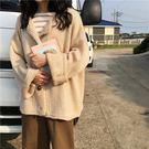 2018秋季韓版學院風新款純色單排扣開衫外套寬鬆百搭針織衫毛衣女『摩登大道』