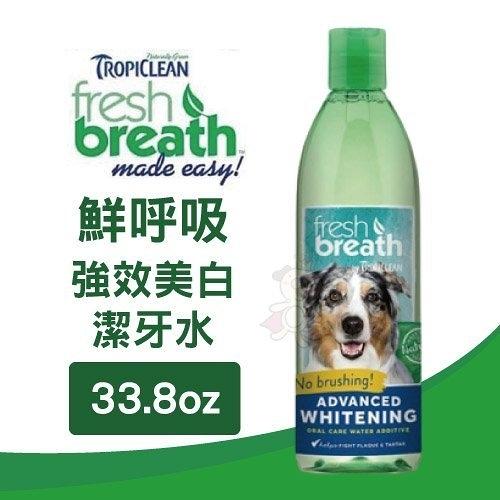 『寵喵樂旗艦店』鮮呼吸 Fresh breath 強效美白潔牙水 33.8oz/罐 提供幼犬日常最基本的口腔衛生保健