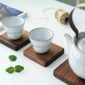 日式黑胡桃木方形杯墊原木鍋墊碗墊餐桌墊隔熱墊餐墊 蜜拉貝爾
