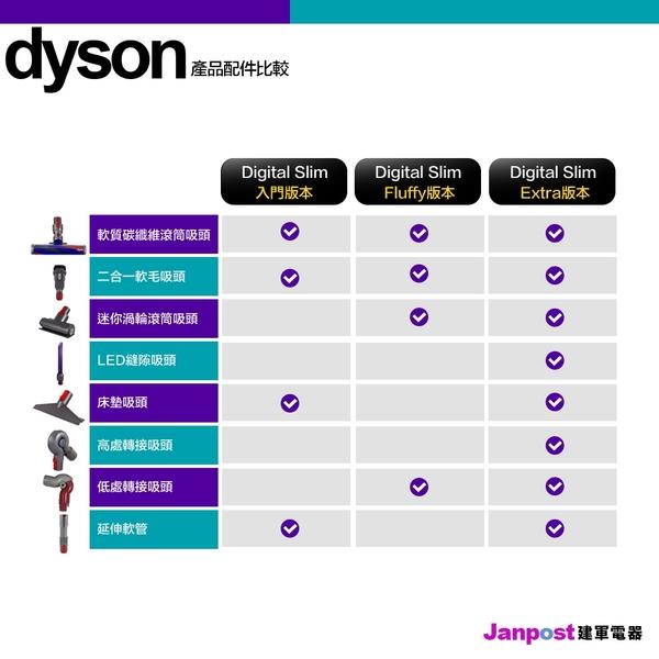 Dyson 戴森 SV18 Digital Slim Fluffy 入門版 輕量無線吸塵器 輕而強勁 可換電池 保固兩年