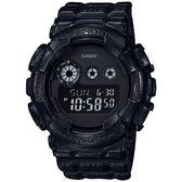 CASIO卡西歐 G-SHOCK 皮革質感手錶 GD-120BT-1DR / GD-120BT-1