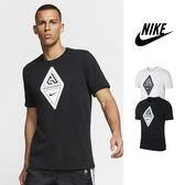 【GT】Nike Dri-Fit Giannis 黑白 短袖T恤 運動 休閒 籃球 棉質 印花 上衣 短T 字母哥