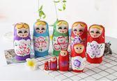 俄羅斯套娃 彩繪5層喜娃原木精刷5遍環保顏料   東川崎町