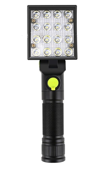 LED工作燈USB充電 檢修掛鉤燈 鋁合金 工地檢修燈 汽車維修 紅藍警示燈