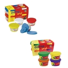 【義大利 GIOTTO】寶寶超軟黏土(4合1) + 寶寶超軟黏土-橘紫(4合1) *加贈Giotto工具組