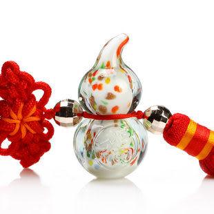 水晶葫蘆掛件 七彩葫蘆車飾 飾品福祿保平安汽車掛飾