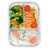 便當盒玻璃飯盒分格分隔餐盒微波爐專用碗【奈良優品】