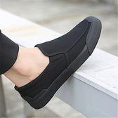【熊貓】春季布鞋男工作鞋韓版潮流黑色休閒鞋