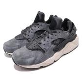 【六折特賣】Nike 武士鞋 Air Huarache Run PRM 灰 黑 麂皮鞋面 男鞋 運動鞋【PUMP306】 704830-016