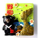 【收藏天地】台灣紀念品專賣*立體黑熊風景冰箱貼-野柳  磁鐵 送禮 文創