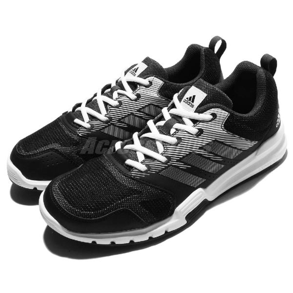 adidas 訓練鞋 Essential Star 3 M 黑 白 灰 男鞋 運動鞋 健身專用 【PUMP306】 BA8947
