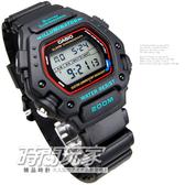 CASIO卡西歐DW-290-1VS電子錶 復刻造型 復古復刻 黑色橡膠錶帶 45mm 男錶 學生錶 軍錶 DW-290-1VS