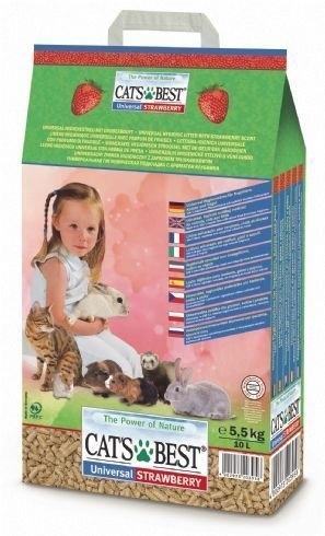 PetLand寵物樂園《德國凱優 CAT'S BEST》崩解型木屑粗砂(草莓香)10L/木屑砂/貓砂