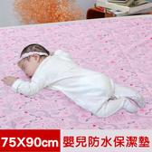 【米夢家居】台灣製造-防水止滑保潔墊/生理墊-75X90CM(粉紅城堡)