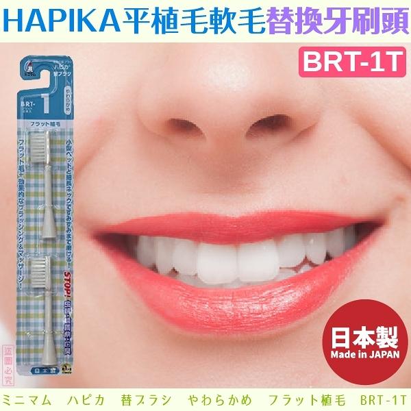 日本製【minimum】HAPIKA平植毛軟毛替換牙刷頭