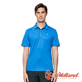 【wildland 荒野】男 椰炭紗抗菌抗UV短袖上衣『牛仔藍』0A91626 戶外 運動 露營 登山 吸濕 排汗 快乾