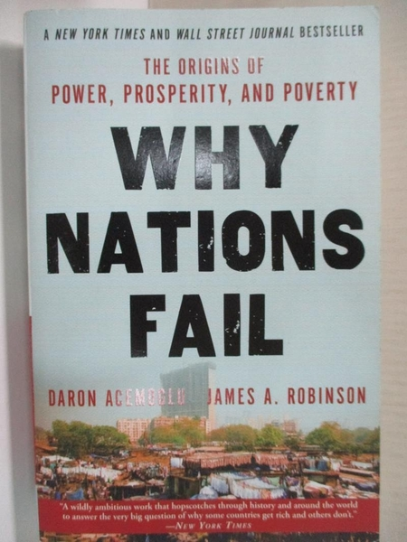 【書寶二手書T1/社會_HZS】Why Nations Fail_Acemoglu, Daron/ Robinson, James A.