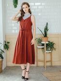 秋冬下殺↘5折[H2O]可單穿或加內搭的吊帶長版洋裝-紅/藍色 #8634001