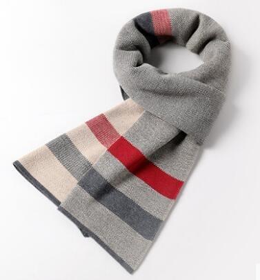 新款冬季韓版潮百搭男士圍巾年輕人針織簡約學生高檔保暖圍脖 琪朵市集