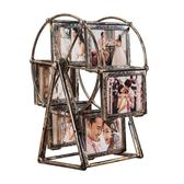 洗照片加摩天輪相框擺臺5寸旋轉風車相架組合兒童婚紗相片框創意