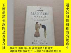 二手書博民逛書店WHY罕見MANNERS MATTERY23583 BUXIANG ISBN:9781741668704