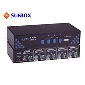 4埠 KVM Switch, PS/2介面 (SK-431)
