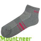 【Mountneer 山林 奈米銀氣墊健走短襪 灰/桃紅】 12U01/短襪/透氣襪