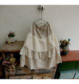 L膝下裙 甜美裙擺刺繡-月兒的綺麗莊園