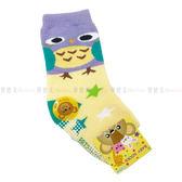 【KP】兒童襪 BABY SOCKS 毛巾止滑襪 厚襪 可愛貓頭鷹 星星 黃紫色 9-11cm 12-14cm 正版授權