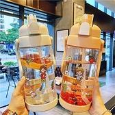 超大號2L大容量吸管塑料水杯男女運動戶外水壺帶刻度健身隨手杯子 快速出貨