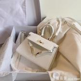 手提包 ins百搭小包包女包2020夏天流行新款潮單肩手提凱莉包網紅斜挎包