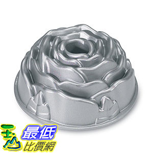 [105美國直購] Nordic Ware Platinum Rose Cast Aluminum Bundt Pan 玫瑰蛋糕 烤盤