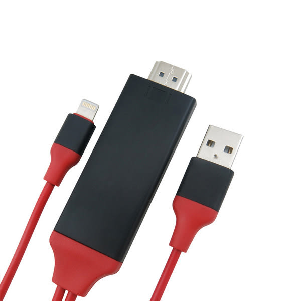 【生活家購物網】新款蘋果 iPhone5/6/6S/7/8轉 HDMI 手機轉電視高清傳輸線/1080P 隨插即用無需熱點