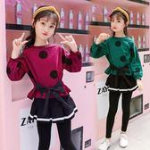 童裝女童秋裝春秋女大童休閒運動潮兒童套裝兩件套潮服-炫科技