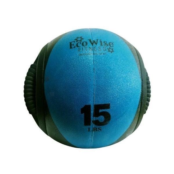 【南紡購物中心】【美國EcoWise】雙握把藥球15磅(6.8KG)