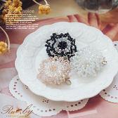 髮飾 串珠花朵造型別針髮夾-Ruby s 露比午茶