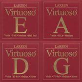 小叮噹的店- 小提琴弦 (整套) 丹麥 Larsen Virtuoso 紅 V5525