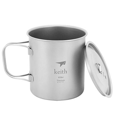 Keith純鈦 Ti3208折疊水杯(650ml)