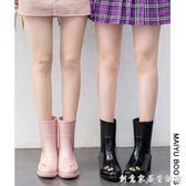 雨靴女成人防水韓國時尚款外穿果凍雨鞋可愛中筒女士水鞋防滑水靴 創意家居生活館
